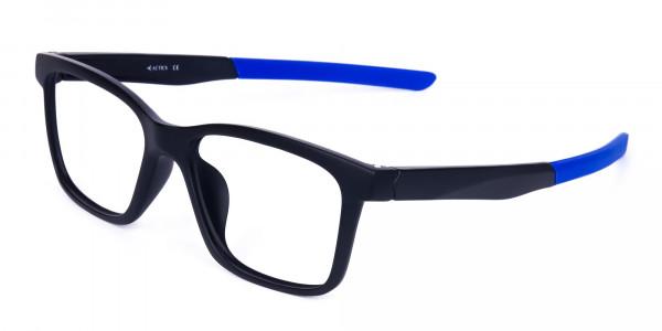 Blue & Black Running Glasses For Men -3