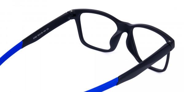 Blue & Black Running Glasses For Men -5