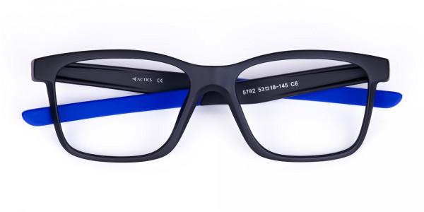 Blue & Black Running Glasses For Men -6