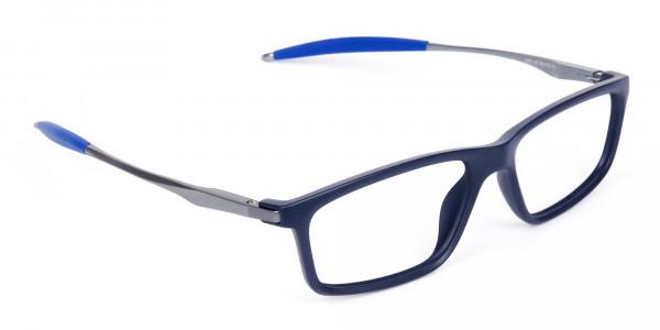 Rectangle-Shape-Blue-Sports-Glasses-2