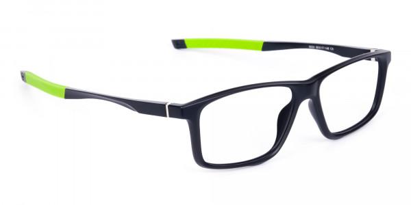 Black-Green-Rectangular-Rimmed-Glasses-2
