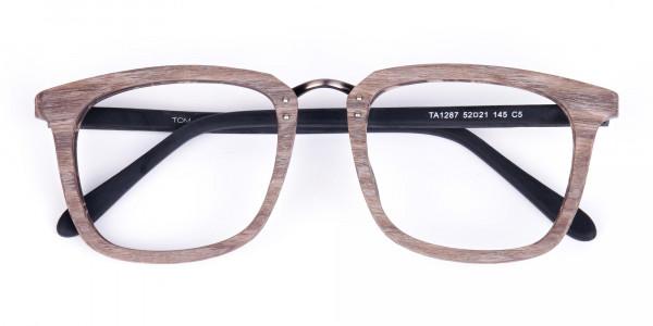 Wooden-Texture-Walnut-Brown-Rim-Glasses-6