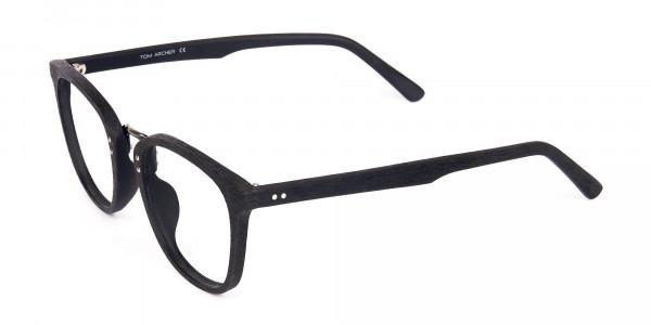 Texture-Black-Square-Wood-Rim-Glasses-3