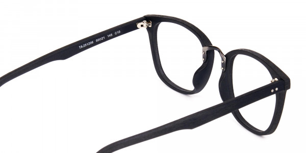 Texture-Black-Square-Wood-Rim-Glasses-5