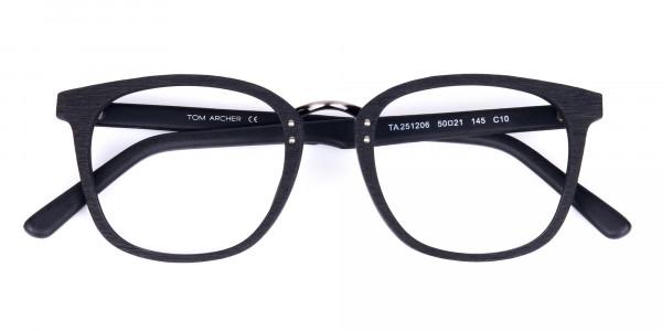 Texture-Black-Square-Wood-Rim-Glasses-6