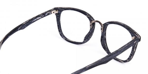 Wooden-Texture-Stripe-Grey-Rim-Glasses-5