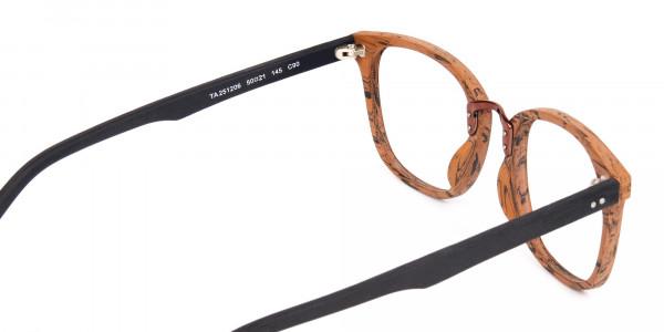 Wooden-Texture-Elm-Brown-Rim-Glasses-5