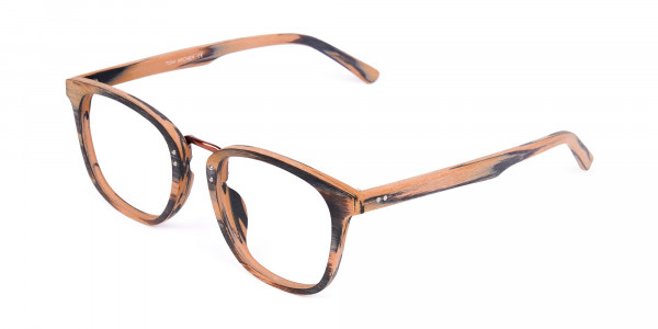 Wooden-Texture-Brown-and-Grey-Rim-Glasses-3