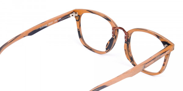 Wooden-Texture-Brown-and-Grey-Rim-Glasses-5