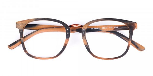 Wooden-Texture-Brown-and-Grey-Rim-Glasses-6