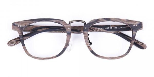 Stripe-Grey-Full-Rim-Wooden-Glasses-6