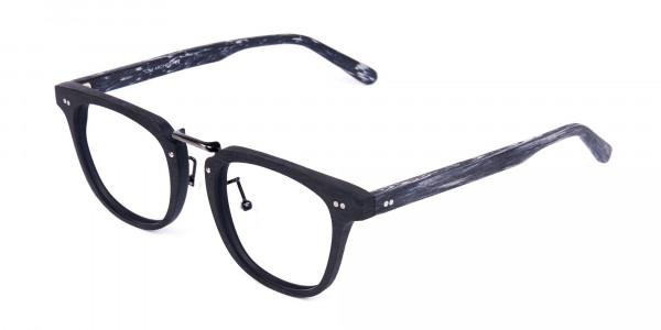 Black-Square-Full-Rim-Wooden-Glasses-3