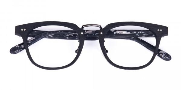 Black-Square-Full-Rim-Wooden-Glasses-6