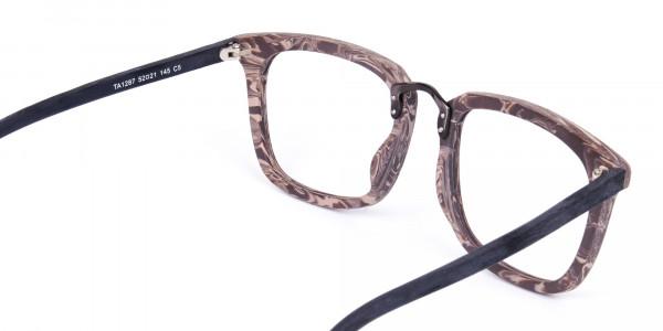 Wooden-Texture-Walnut-Brown-Rim-Glasses-5