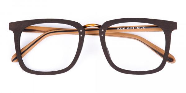 Brown-Square-Wooden-Glasses-Frame-6