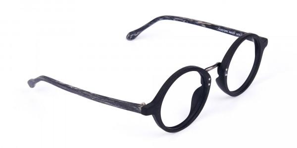Black-Round-Full-Rim-Wooden-Glasses-2