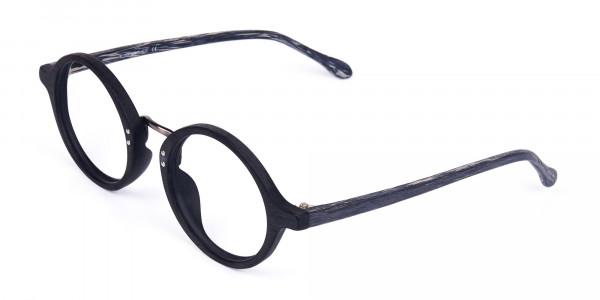 Black-Round-Full-Rim-Wooden-Glasses-3