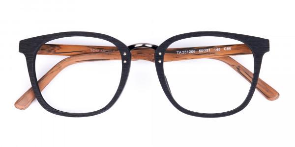 Wooden-Texture-Black-Full-Rim-Glasses-6
