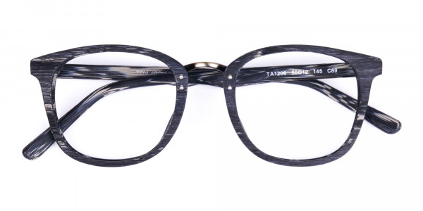Wooden-Texture-Stripe-Grey-Rim-Glasses-6