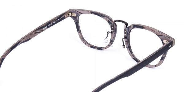 Stripe-Grey-Full-Rim-Wooden-Glasses-5