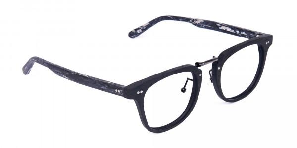 Black-Square-Full-Rim-Wooden-Glasses-2