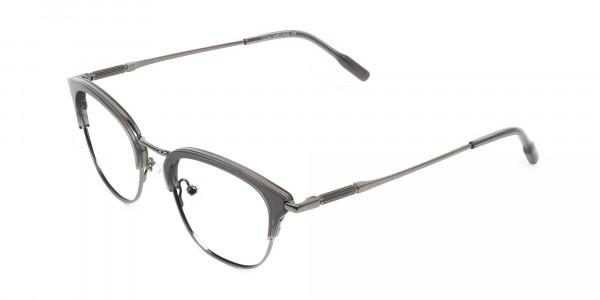Wayfarer & Browline Gunmetal Silver Grey Translucent glasses - 3
