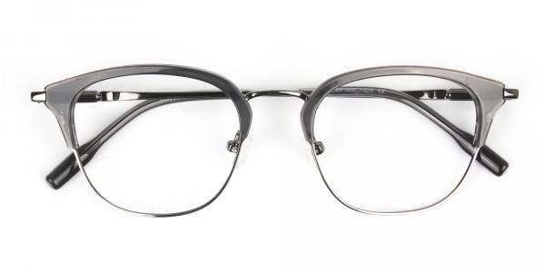 Wayfarer & Browline Gunmetal Silver Grey Translucent glasses - 7