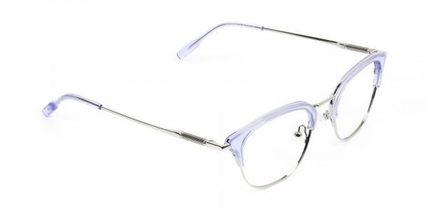 Silver & Crystal Periwinkle Purple Glasses - 2