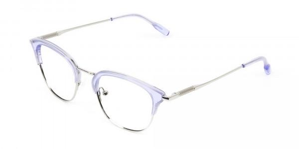 Silver & Crystal Periwinkle Purple Glasses - 3