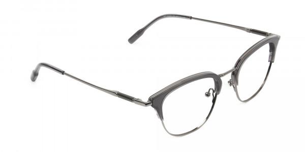 Wayfarer & Browline Gunmetal Silver Grey Translucent glasses - 2
