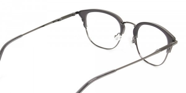 Wayfarer & Browline Gunmetal Silver Grey Translucent glasses - 5