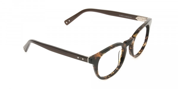 Wayfarer Round Havana & Tortoiseshell Handmade Acetate Glasses - 2
