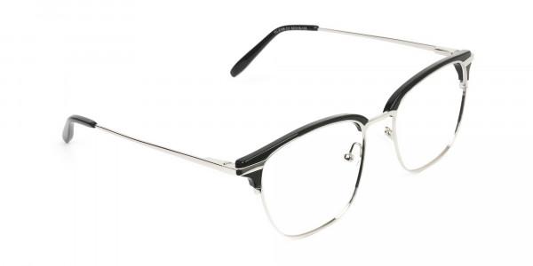 Wayfarer Black & Silver Clubmaster Frames - 2