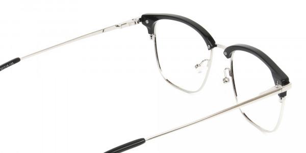 Wayfarer Black & Silver Clubmaster Frames- 5