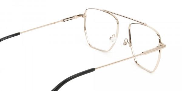 Black  and Gold Aviator  Wire Frame Glasses Men Women - 5