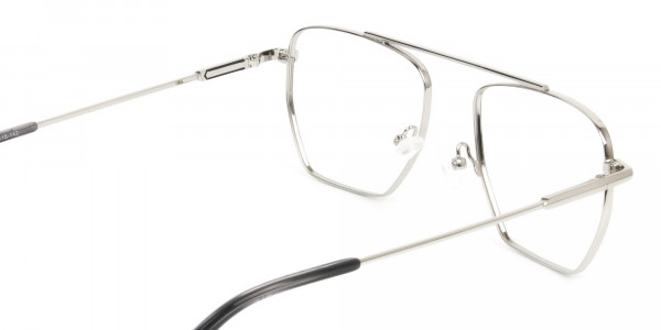Lightweight Black and Silver Wire Frame Glasses Men Women - 5