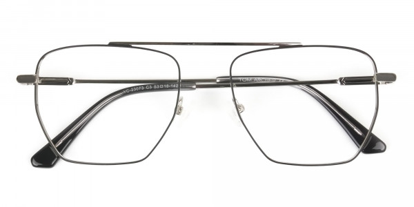 Lightweight Black and Silver Wire Frame Glasses Men Women - 6