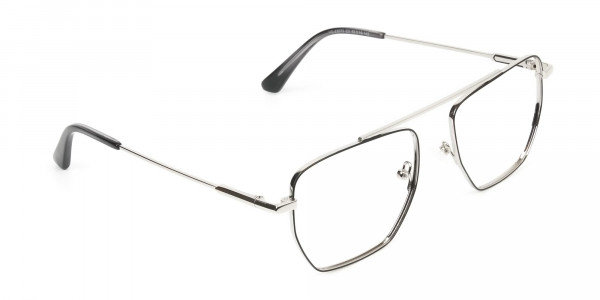 Lightweight  Black and Silver Wire Frame Glasses Men Women - 2