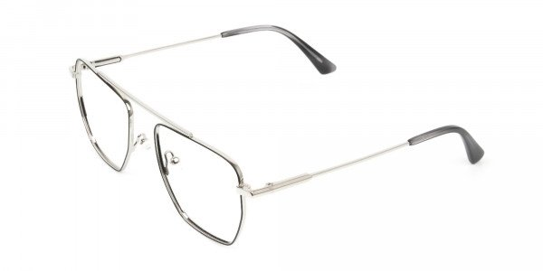 Lightweight Black and Silver Wire Frame Glasses Men Women - 3