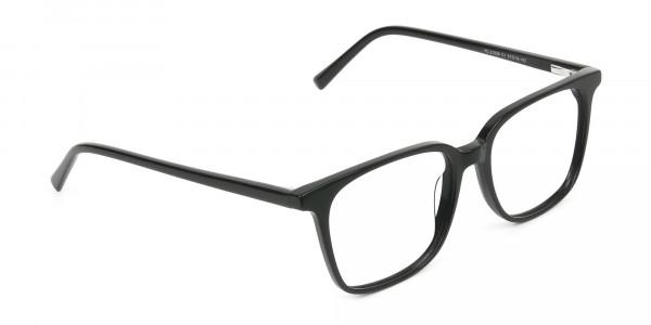 Wayfarer and Square Glasses in Black - 2