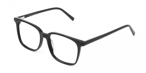 Wayfarer and Square Glasses in Black - 3