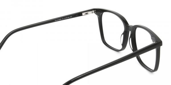 Wayfarer and Square Glasses in Black - 5
