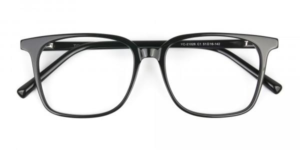 Wayfarer and Square Glasses in Black - 6