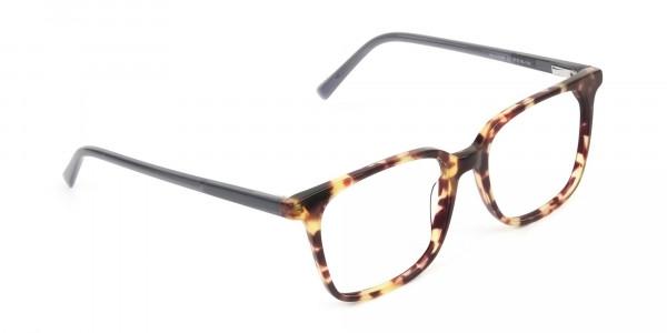 Large Square Tortoise Shell Glasses - 2