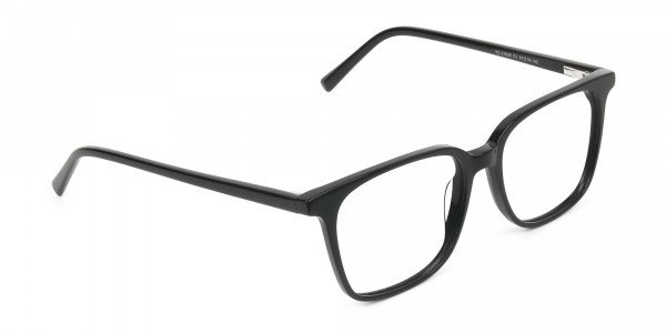 Wayfarer and Square Glasses in Black - 2