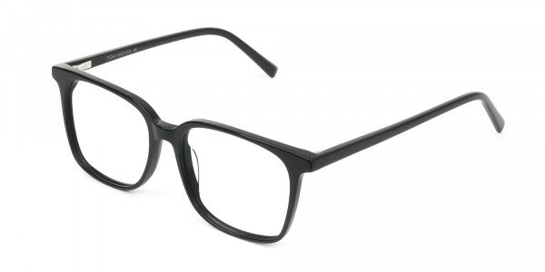 Wayfarer and Square Glasses in Black - 3