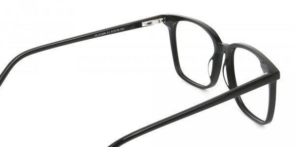 Wayfarer and Square Glasses in Black - 5