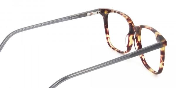 Large Square Tortoise Shell Glasses - 5