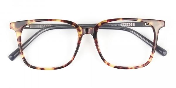 Large Square Tortoise Shell Glasses - 6