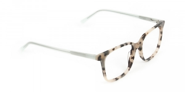 Crystal Teal Green Creamy Tortoise Glasses - 2